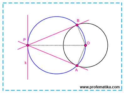 Ilustrasi Pembuktian Garis Singgung dengan Teorema Reim